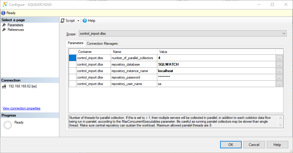 SQLWATCH SSIS Control Package