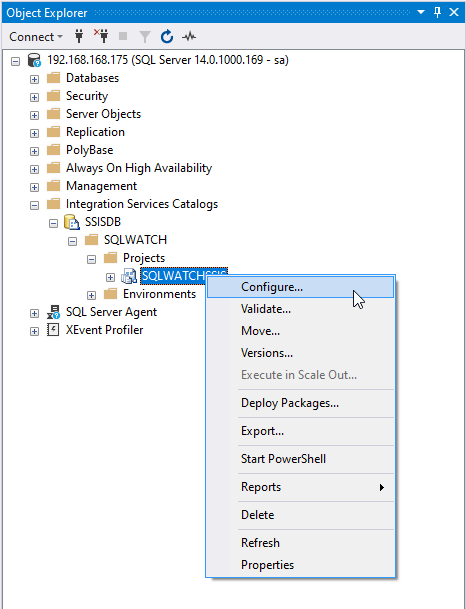 SQLWATCH SSIS Configuration